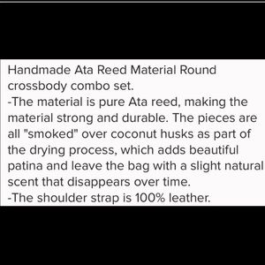 Pink Haley Bags - Bali Bag Made From ATA Reed Leather Straps